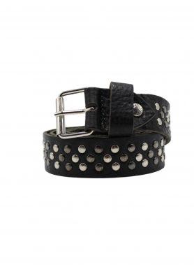 cintura nera borchie Nero